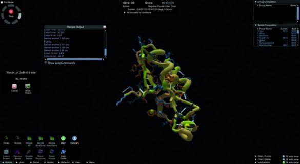capture d'écran du GWAP Foldit