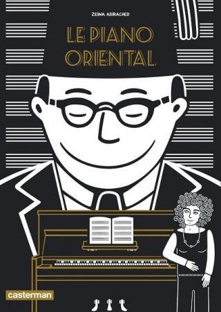 couverture du Piano oriental, autoportrait au piano et homme avec tarbouche en fond