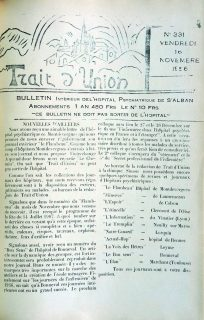 Bulletin tiré du journal de l'hôpital, Trait d'Union