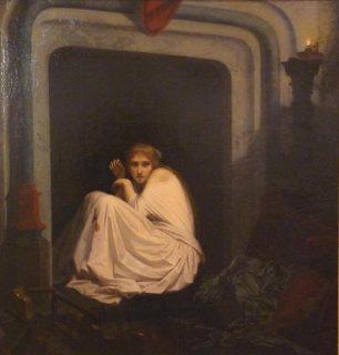 Peinture d'une femme folle