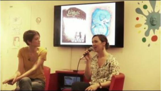Léa Mazé et Sonia Deschamps à la Bpi