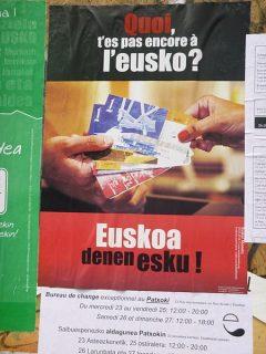 Affiche de la monnaie Eusko