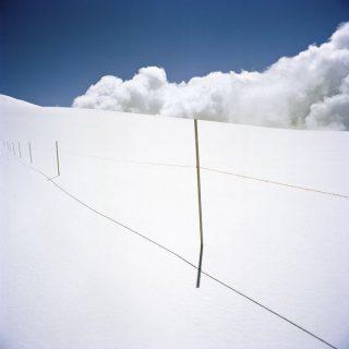La frontière enneigée entre Suisse et Italie