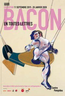 affiche de l'exposition Francis Bacon et les lettres, au Centre Pompidou