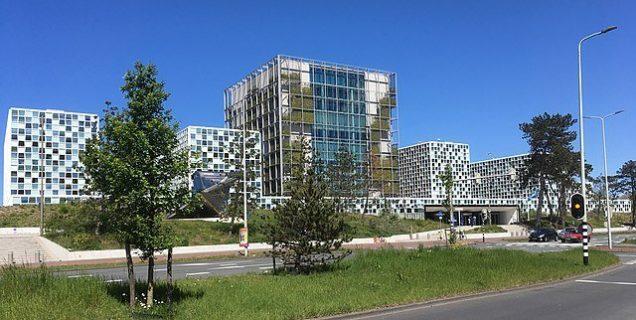 Vue de l'extérieur des immeubles de la Cour pénale internationale à La Haye
