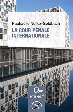 Couverture du livre La Cour pénale internationale