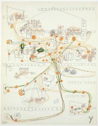 Carte dessinée par Jacques Lin en 1973.
