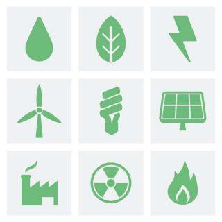 symboles de termes d'économie verte