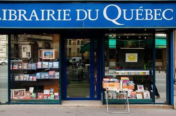Devanture de la libraire du Québec à Paris