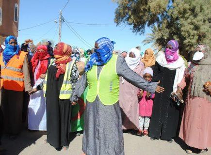 Mouvement de contestation contre le gaz de schiste à In Salah, sud de l'Algérie