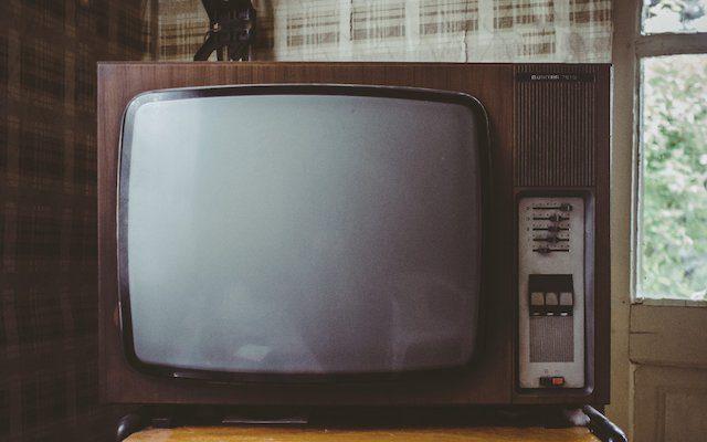 vieux poste de télévision