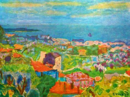 Vue colorée sur la ville du Cannet