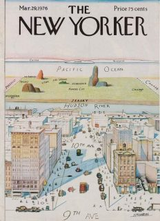Couverture du magazine, The New-Yorker, illustrée par un dessin de Steinberg