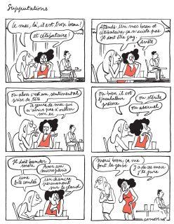 Deux femmes discutent des défauts d'un homme