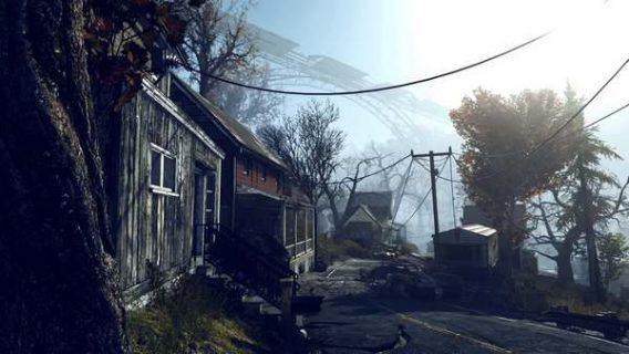 Image de maisons issue du jeu Fallout