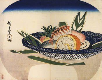 Un bol de sushis dessiné