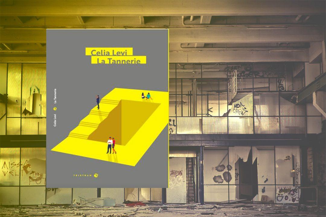 La couverture du roman sur fond d'usine dessafectée