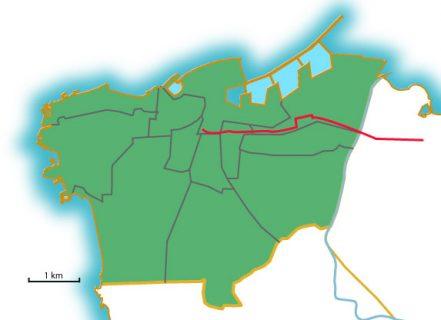 Une carte de Beyrouth avec la rue dont parle Camille Ammoun