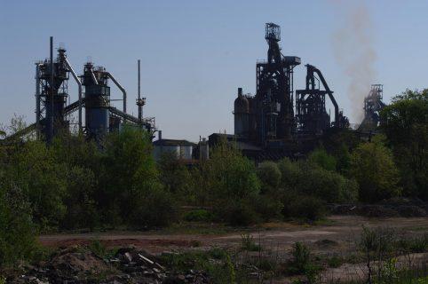 Site industriel d'Hayange, en Moselle