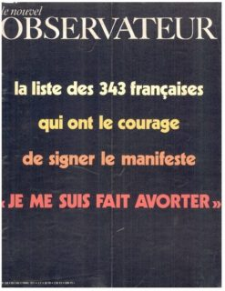 Couverture du Nouvel Observateur sur le Manifeste des 343