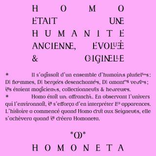 Spécimen du caractère Homoneta