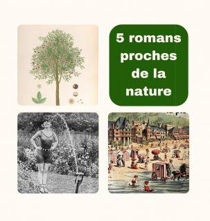 Images anciennes issues de Gallica représentant un arbre fruitier, une femme se faisant arroser dans un jardin et un dessin de plage