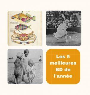 Images anciennes issues de Gallica représentant des poissons colorés, des enfants sur une plage, une joueuse de tennis