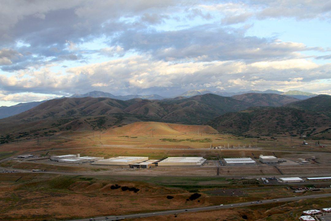 Data center dans un paysage de montagne