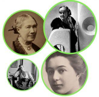 Photos de Georgiana Houghton, Hilma af Kint, Sonia Delaunay et Barbara Hepworth, domaine public