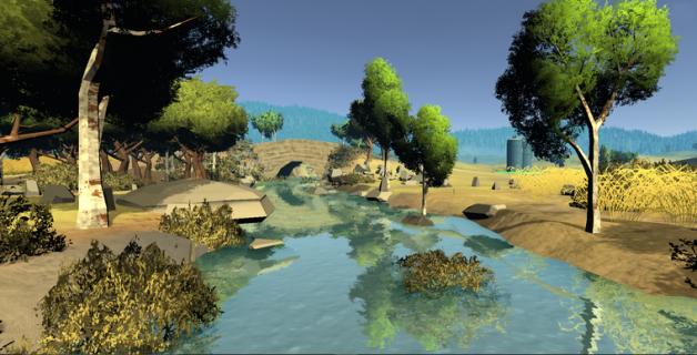 Paysage virtuel