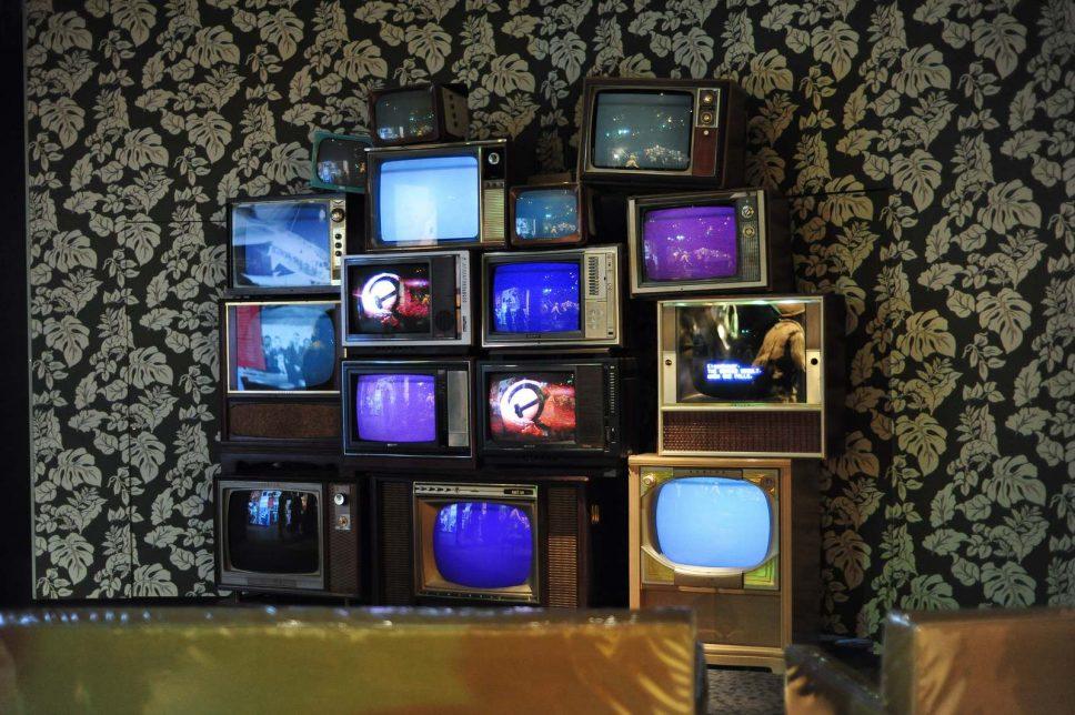 mur de télévision