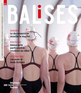 Des nageuses de dos, sur la couverture de Balises