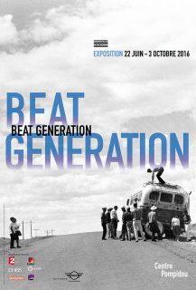 Affiche de l'exposition Beat Generation au Centre Pompidou