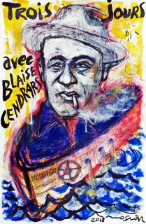 Portrait de Blaise Cendras par Ricardo Mosner
