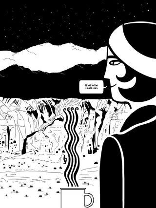 Pour Prendre refuge de Mathias Enard & Zeina Abirached, illustration extraite du livre à paraître chez Casterman en septembre 2018