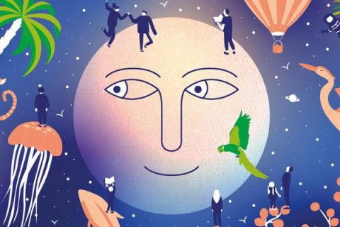 lune avec un visage