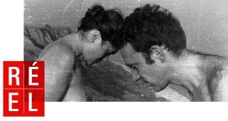 une femme et un homme front contre front